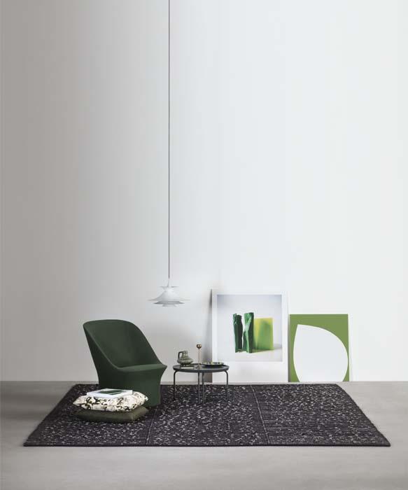 apollo tappeto moderno di design per soggiorno bianco e nero realizzato a mano