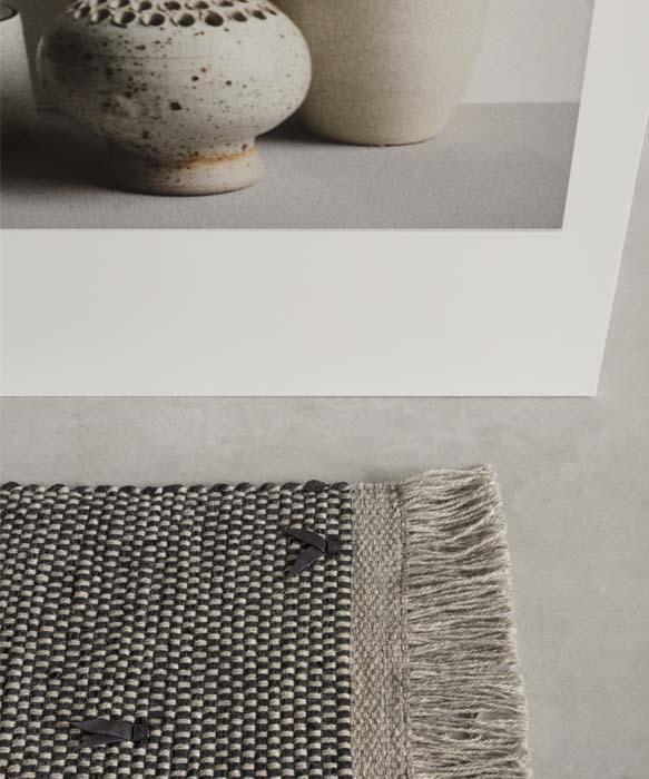tappeto intrecciato per soggiorno moderno tessoria asolana