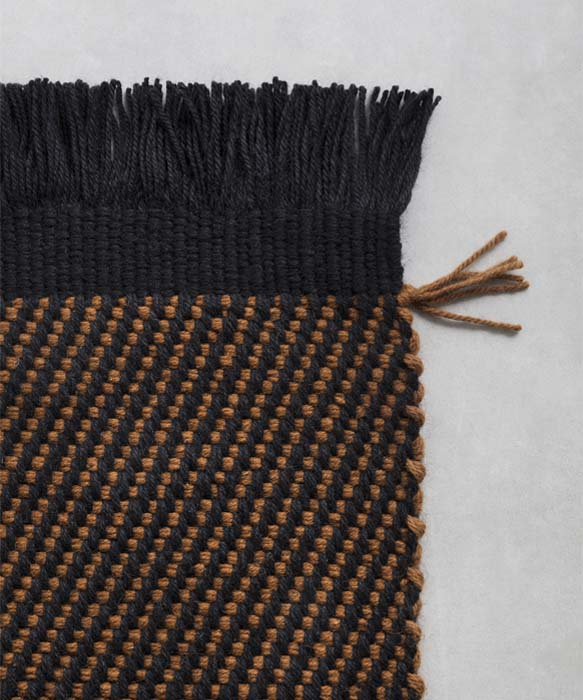 zefiro rug Each carpet is manufactured starting from a basic module, with variable width from 50 to 100 cm: the combination of different modules allows for the customisation of the finished products, of different shapes and dimensions
