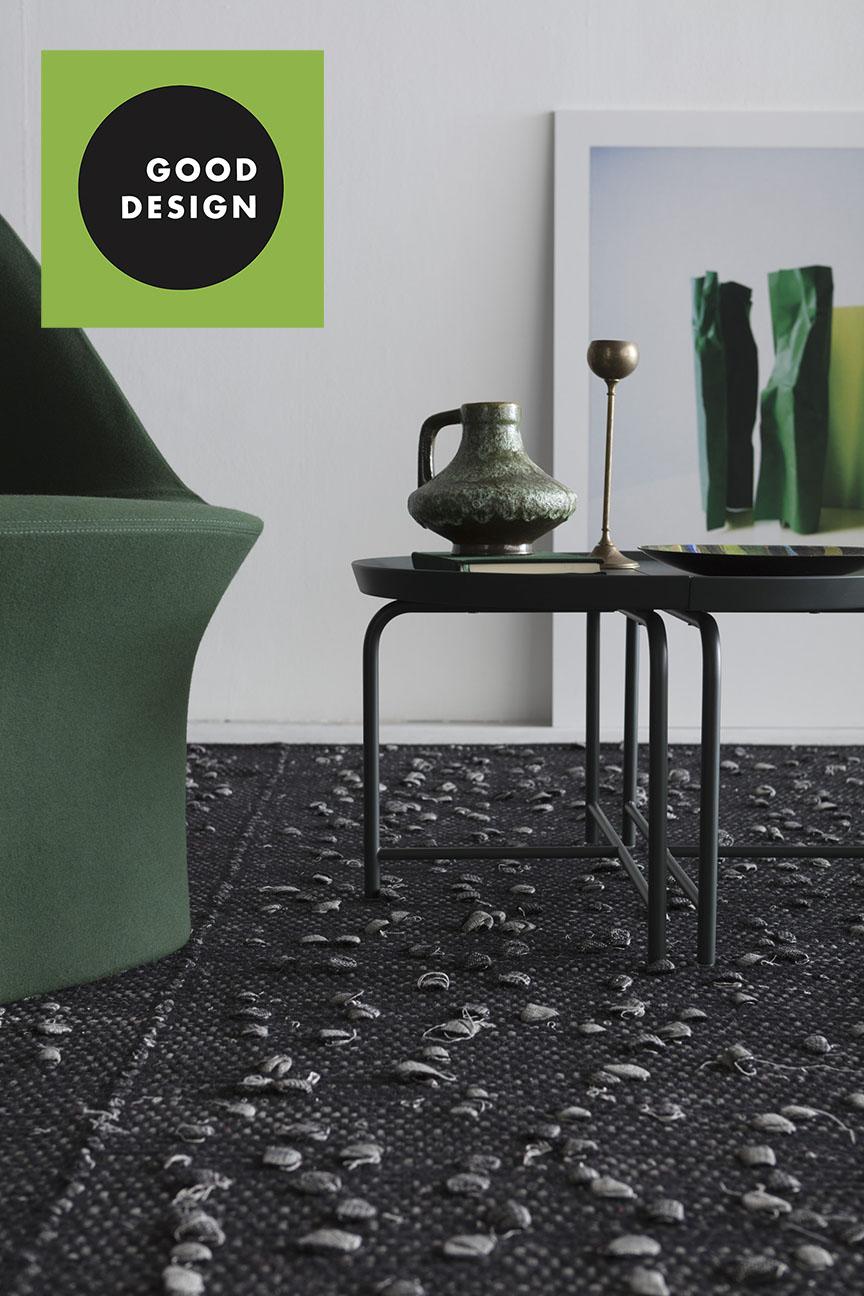 nella sezione Green Product / Graphic Design, anche Tessoria Asolana, selezionata per i suoi tappeti prodotti in maniera sostenibile e innovativa.